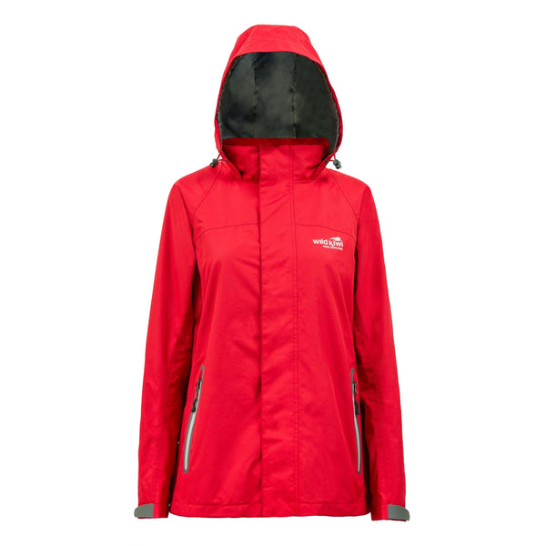 Women's Red Storm Jacket. Wild Kiwi Clothing. New Zealand. wildkiwiclothing.co.nz