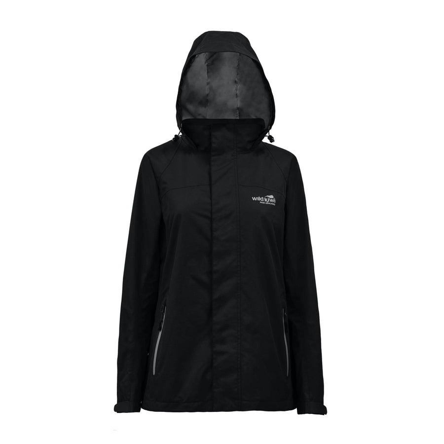 Women's Black Storm Jacket-Raincoat-www.wild-kiwi.co.nz