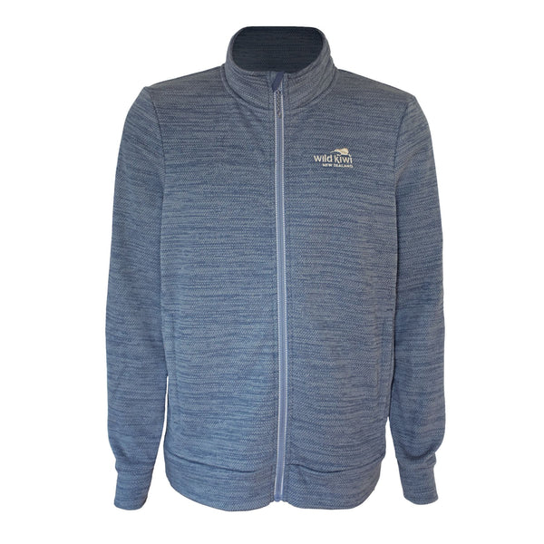 Men's blue fleece jacket. Warm winter jacket. www.wild-kiwi.co.nz