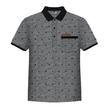 Men's grey Kiwi polo shirt. Wild Kiwi New Zealand. www.wild-kiwi.co.nz