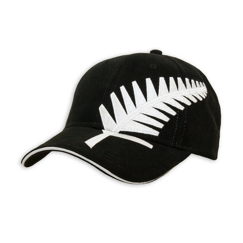 Silver Fern Cap, black, Wild Kiwi Clothing, New Zealand.