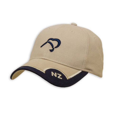 NZ, Kiwi Cap, tan, Wild Kiwi Clothing, New Zealand.