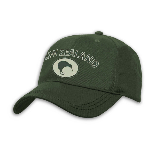 NZ, Kiwi Cap, green, Wild Kiwi Clothing, New Zealand.
