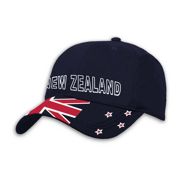NZ flag Cap, navy, Wild Kiwi Clothing, New Zealand.