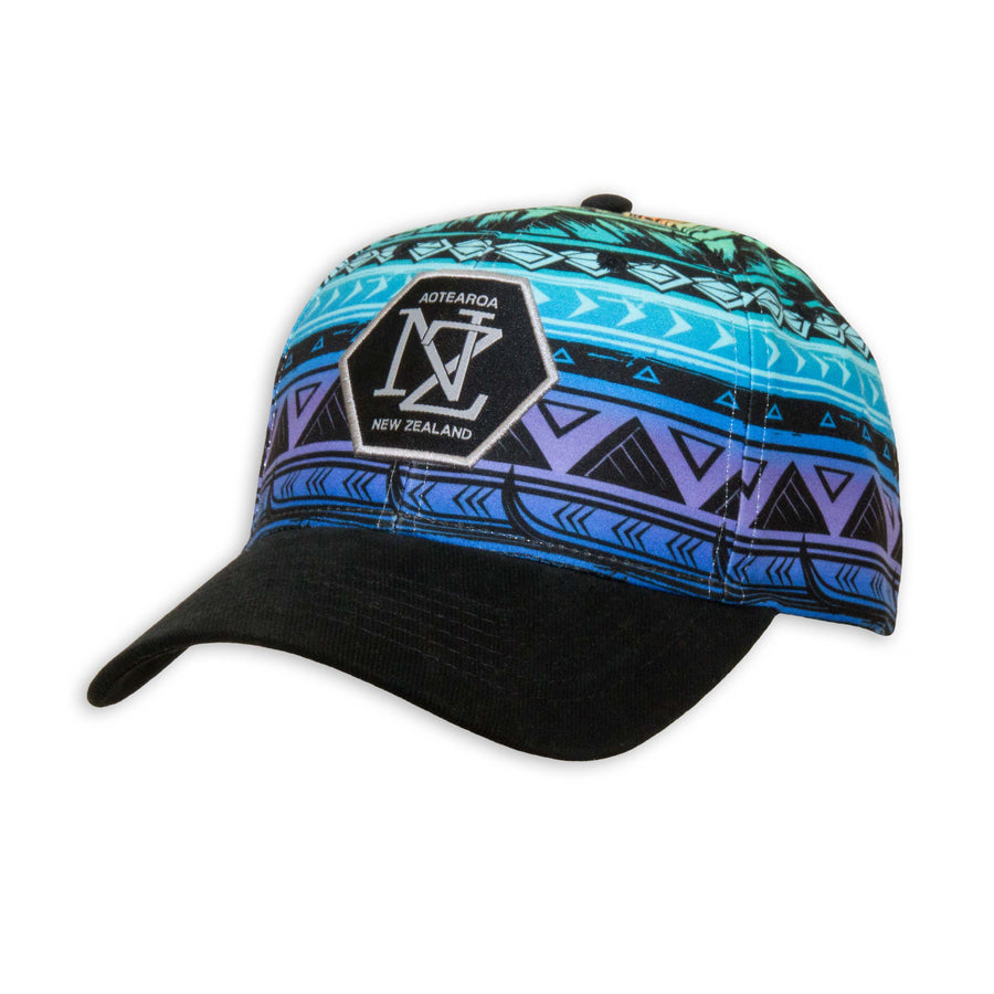 Colourful printed baseball cap. Wild Kiwi Clothing, New Zealand www.wild-kiwi.co.nz