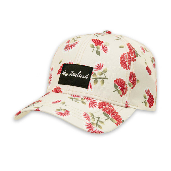 Pohutukawa flower cap. Wild Kiwi Clothing, New Zealand. wildkiwiclothing.co.nz