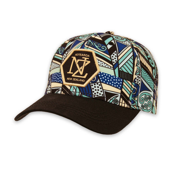 Koru print cap. Wild Kiwi Clothing, New Zealand. wildkiwiclothing.co.nz