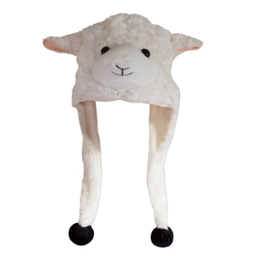 Children's Costume Animal Beanie in shape of a New Zealand sheep.