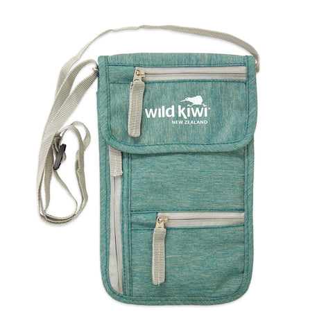 Passport, money, travel documents bag. wildkiwiclothing.co.nz.