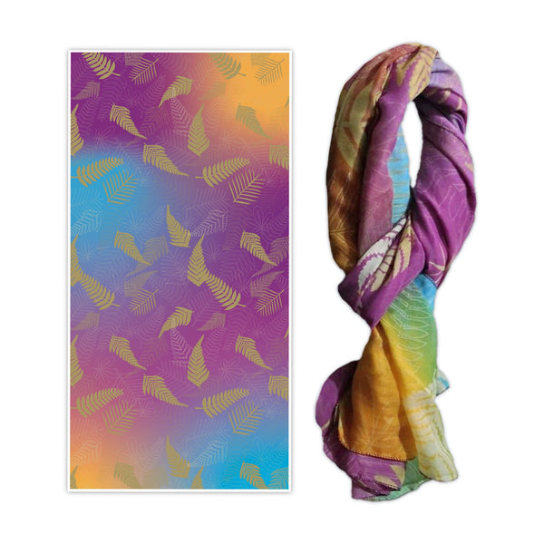 Printed ferns design scarf. Wild Kiwi New Zealand. www.wild-kiwi.co.nz