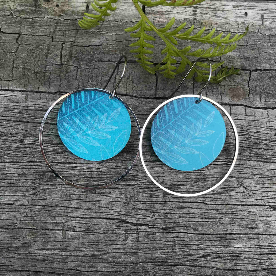 Round hoop and stud earring set, Tribal Earth New Zealand