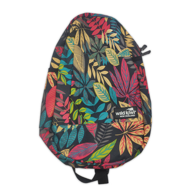 Backpack with all-over ferns print. Concealed side pocket and adjustable straps. www.wild-kiwi.co.nz