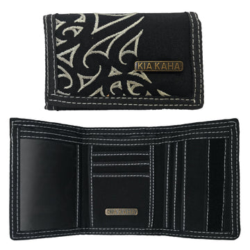 Men's black canvas wallet.