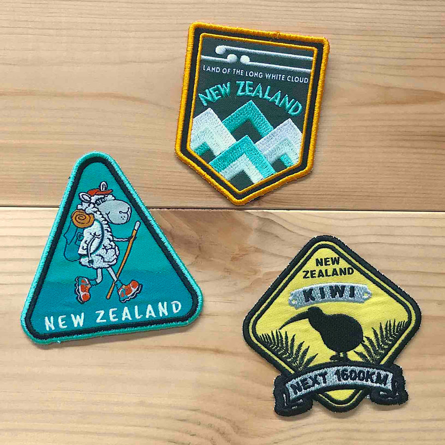 Iron on patches, set of 3 designs. Wild Kiwi New Zealand
