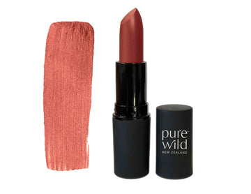 Natural Lipstick. Dark beige Dawn Blush Lipstick. Pure Wild®. Made in New Zealand