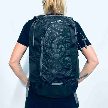 Black Backpack Maori Design | Wild Kiwi NZ
