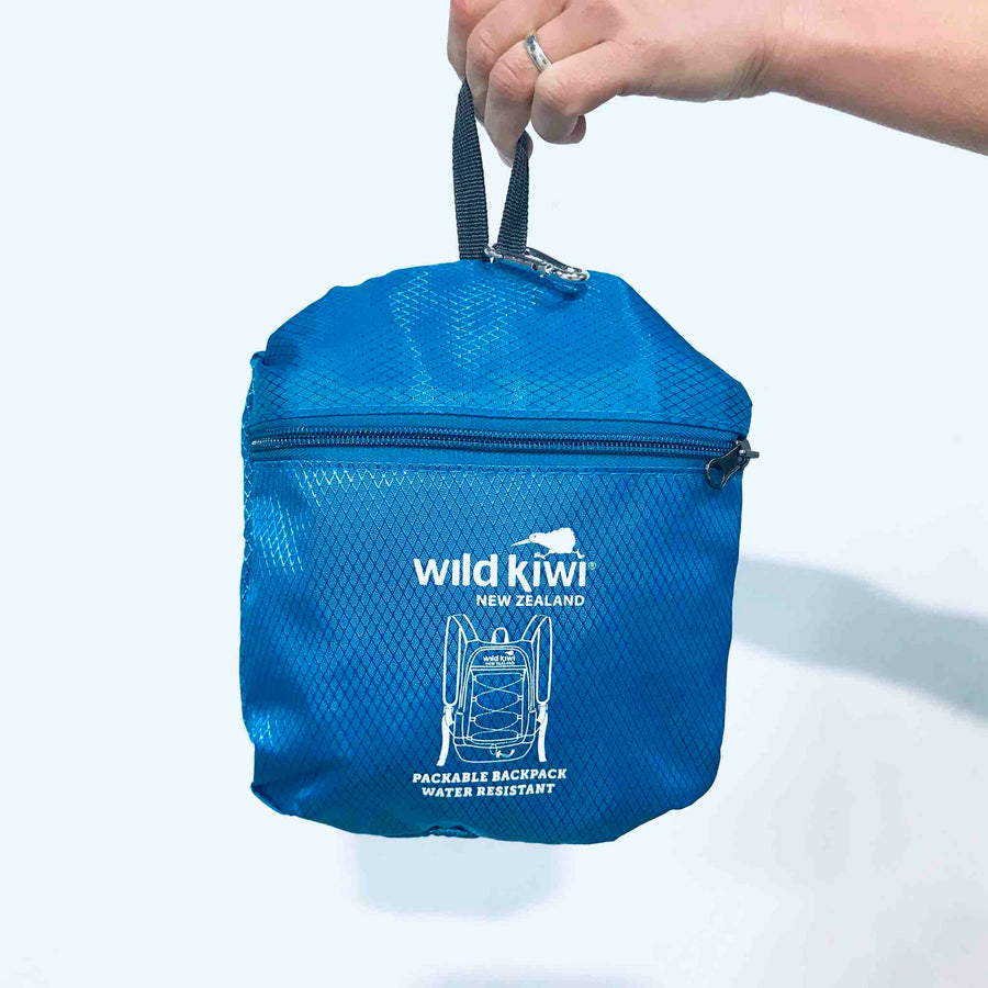 Packable Backpack Blue | Wild Kiwi NZ