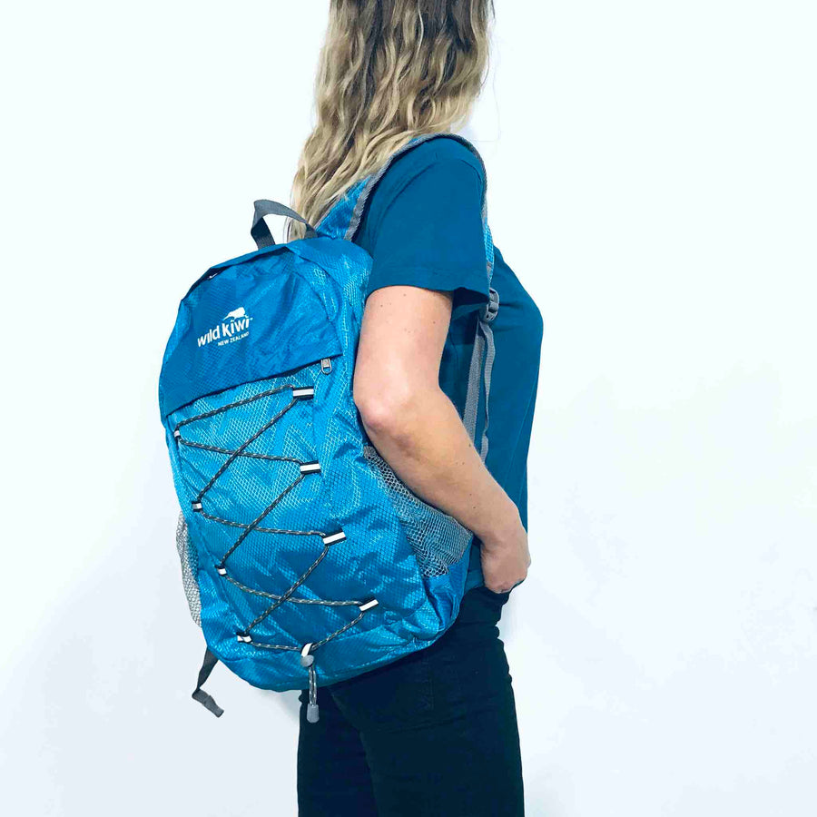 Packable Backpack Blue | Wild Kiwi NZ 350KS