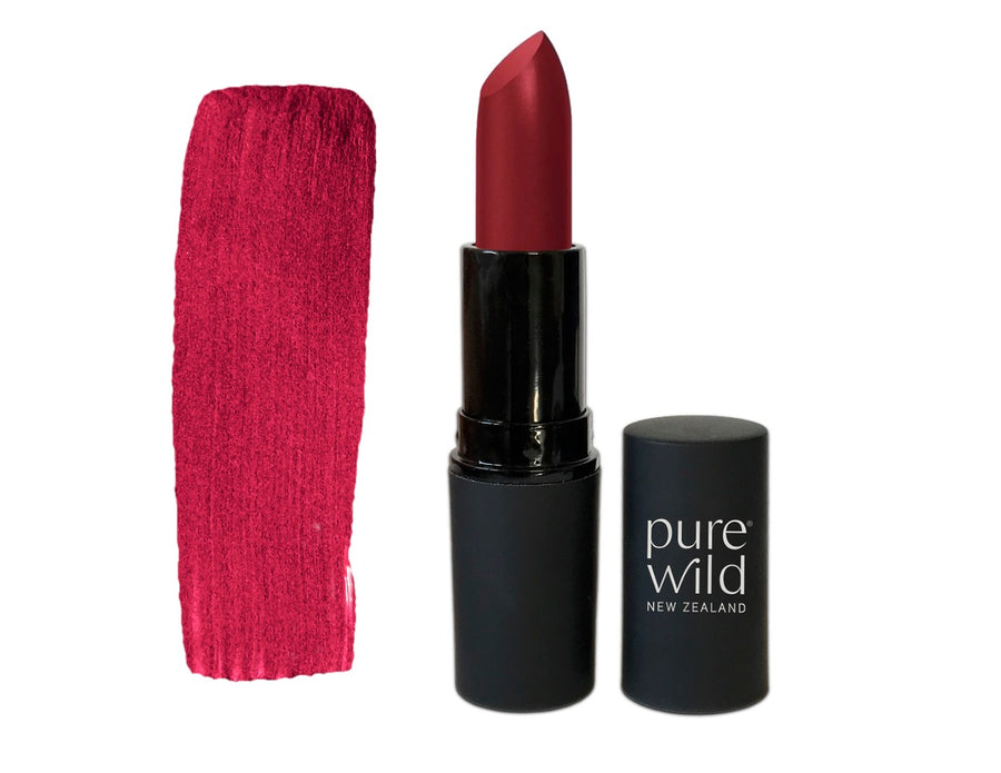 Natural Lipstick. Deep pink Manuka Blossom Lipstick. Pure Wild®. Made in New Zealand