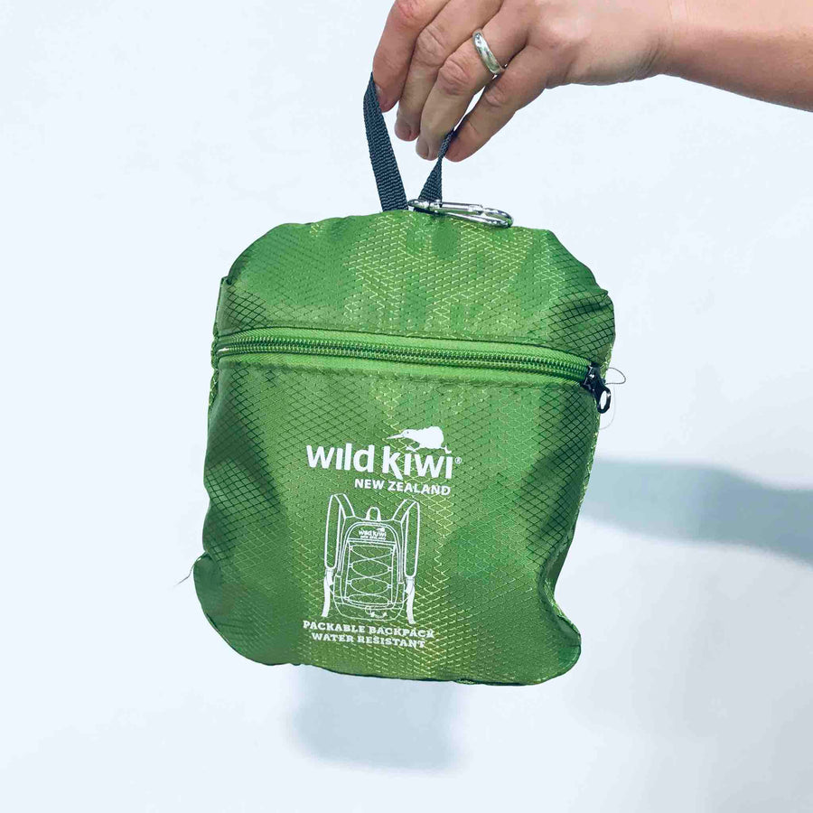 Packable Backpack Green | Wild Kiwi NZ