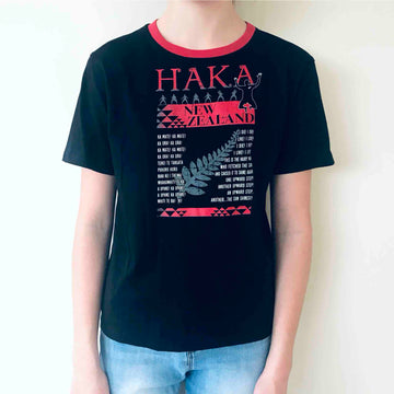 Children's Haka T-shirt Black 383KP