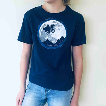 Children's E.T. Kiwi T-shirt Cobalt Blue 382KP