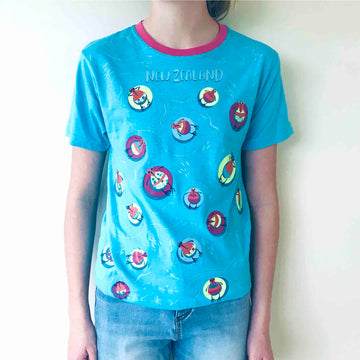 Children's Beach Kiwi T-shirt Bright Blue 384KP