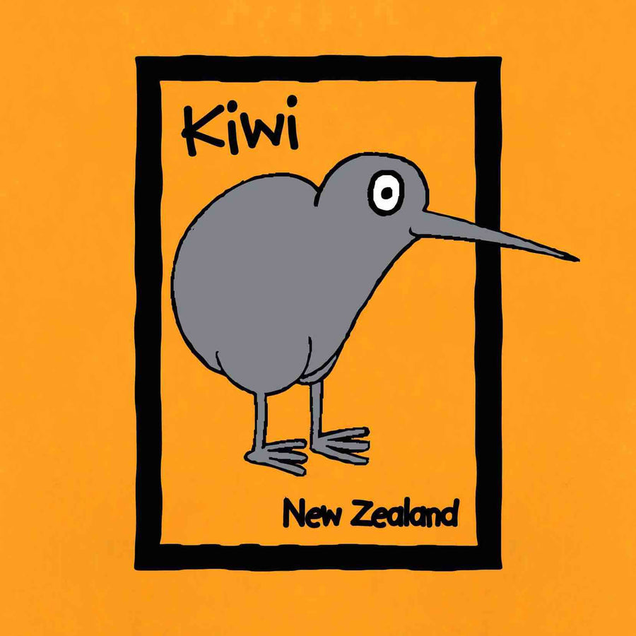 Children's Cartoon Kiwi T-shirt Yellow 127KP