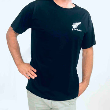 Men's Embroidered Fern T-shirt Black 107KP