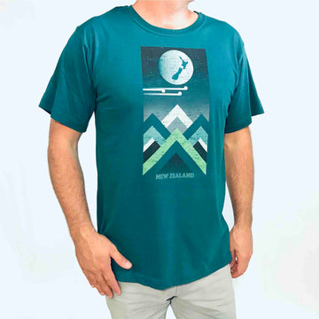 Men's Mountain Peak T-shirt Deep Sea Green 156KP