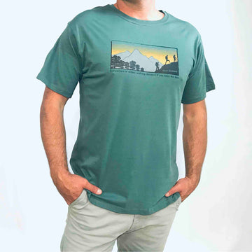Men's Walking T-shirt Vintage Green 134KP