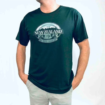 Men's Mountains Kiwi T-shirt Dark Teal Green 167KP