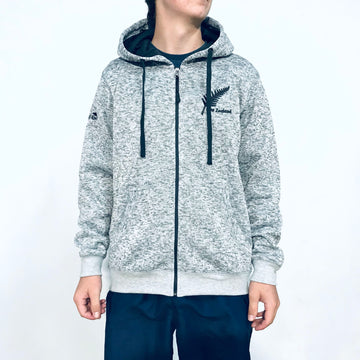 Men's Grey Knit Hooded Jacket 200KJ