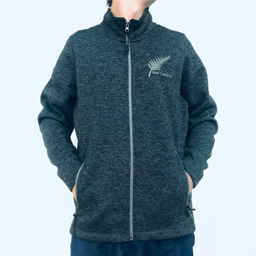 Men's charcoal grey fleece lined zip through jacket. www.wild-kiwi.co.nz