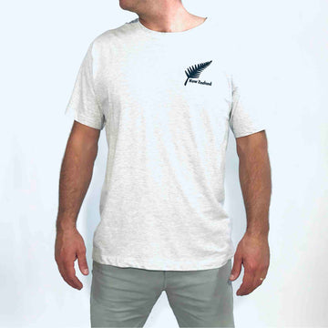 Men's T-shirt Embroidered Fern Grey 608KP