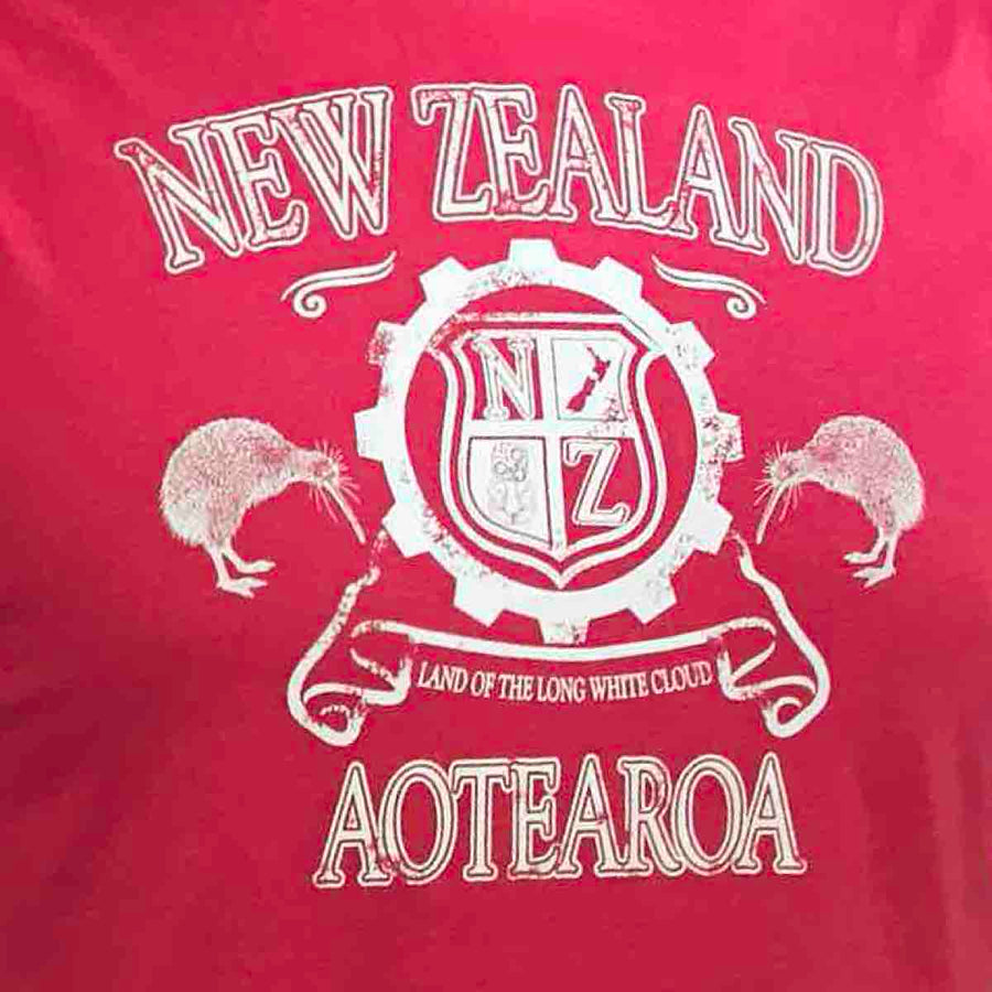 Men's T-shirt Kiwi Crest Red