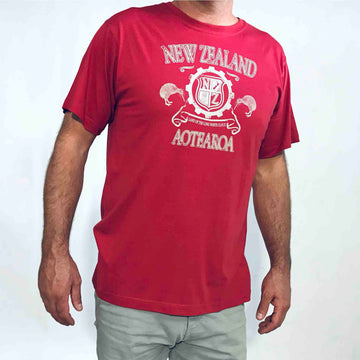 Men's Kiwi Crest T-shirt Red 103KP