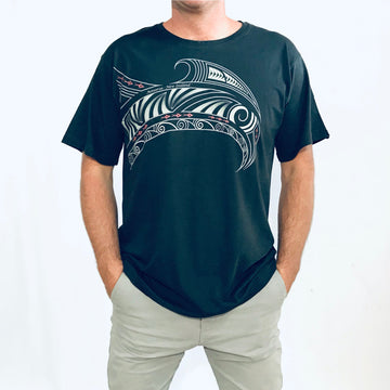 Teal Maori design Men's T-Shirt, Wild Kiwi New Zealand www.wild-kiwi.co.nz