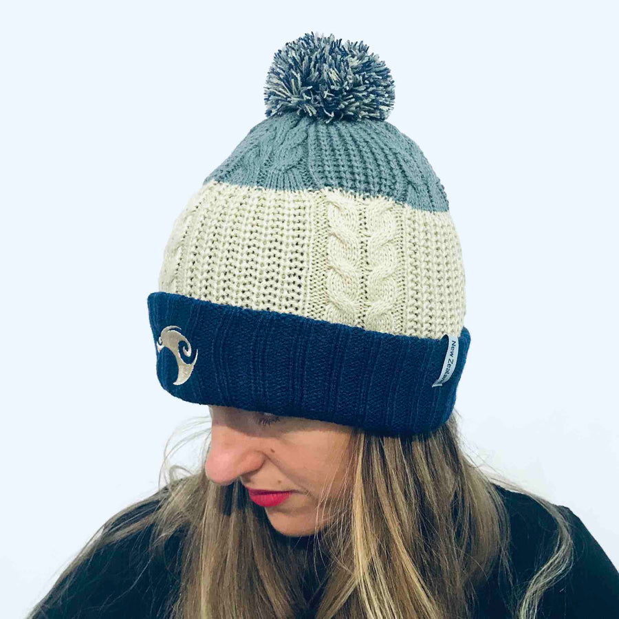 Beanie Reversible with Removable Pom Pom