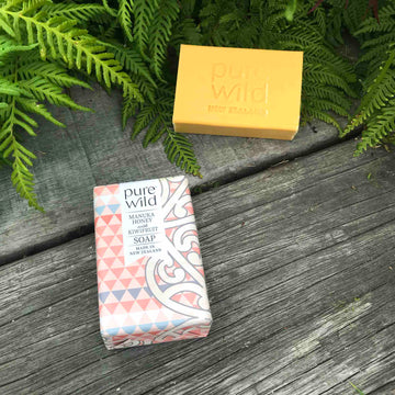 Soap NZ, Manuka Honey with Kiwifruit Soap. Pure Wild. Made in New Zealand