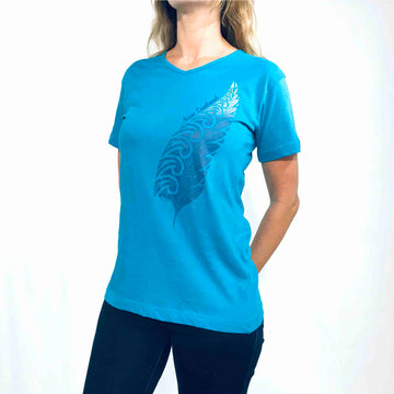 Women's Fern T-shirt Aqua Blue 115KP