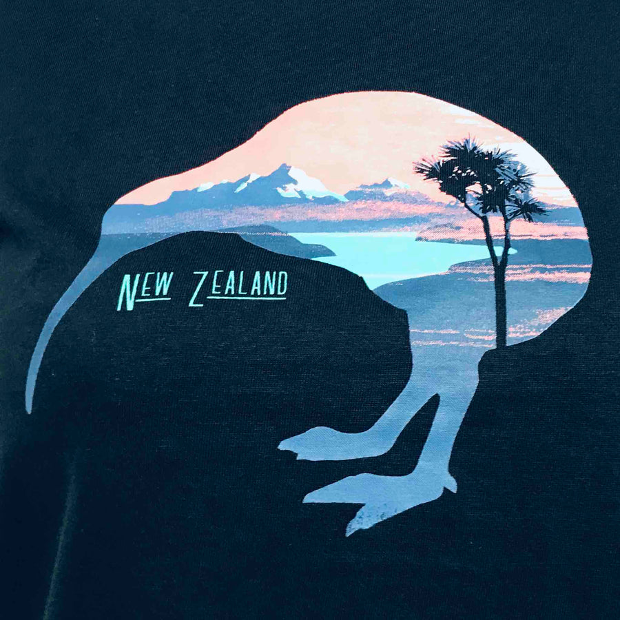 Women's T-Shirt Kiwi Silhouette 57FT