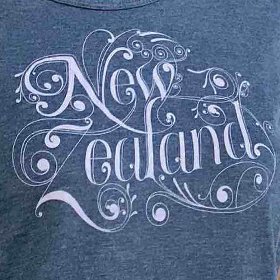 Women's Filigree New Zealand T-shirt Blue Marl 123KP