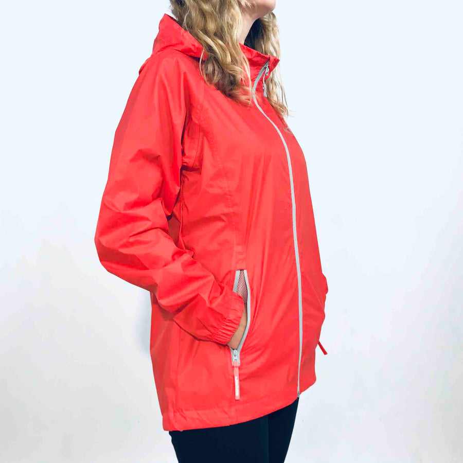 Women's Coral Packable Rain Jacket. Wild Kiwi Clothing. New Zealand. www.wild-kiwi.co.nz