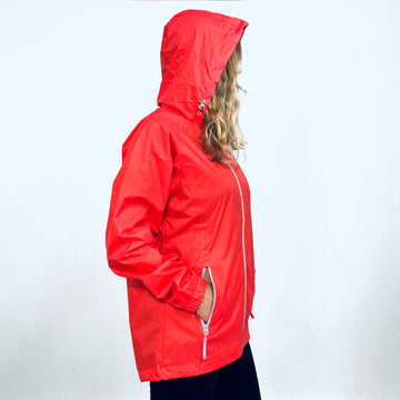 Women's Coral Packable Raincoat. Wild Kiwi Clothing. New Zealand. www.wild-kiwi.co.nz