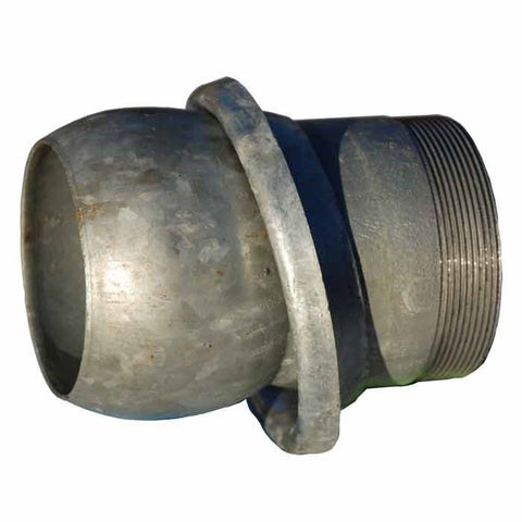 F15 – Galv. Steel Male Coupling Threaded Bspm With Lever Ring