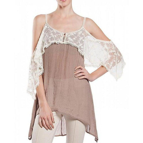 Cocoa Lace Top