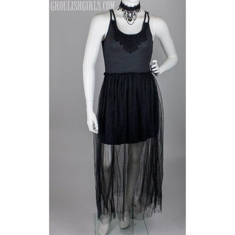 Tulle Racerback Dress