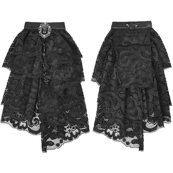 Punk Rave Jabot Black Lace Jabot