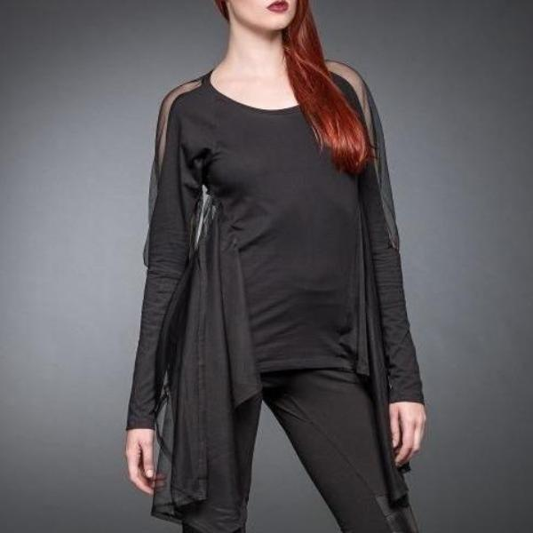 Queen of Darkness Tops & Blouses Half Cape Top
